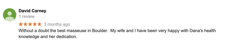 Dana G Massage Review Boulder